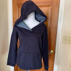 LANDS END navy blue hooded sweatshirt. Size Sm